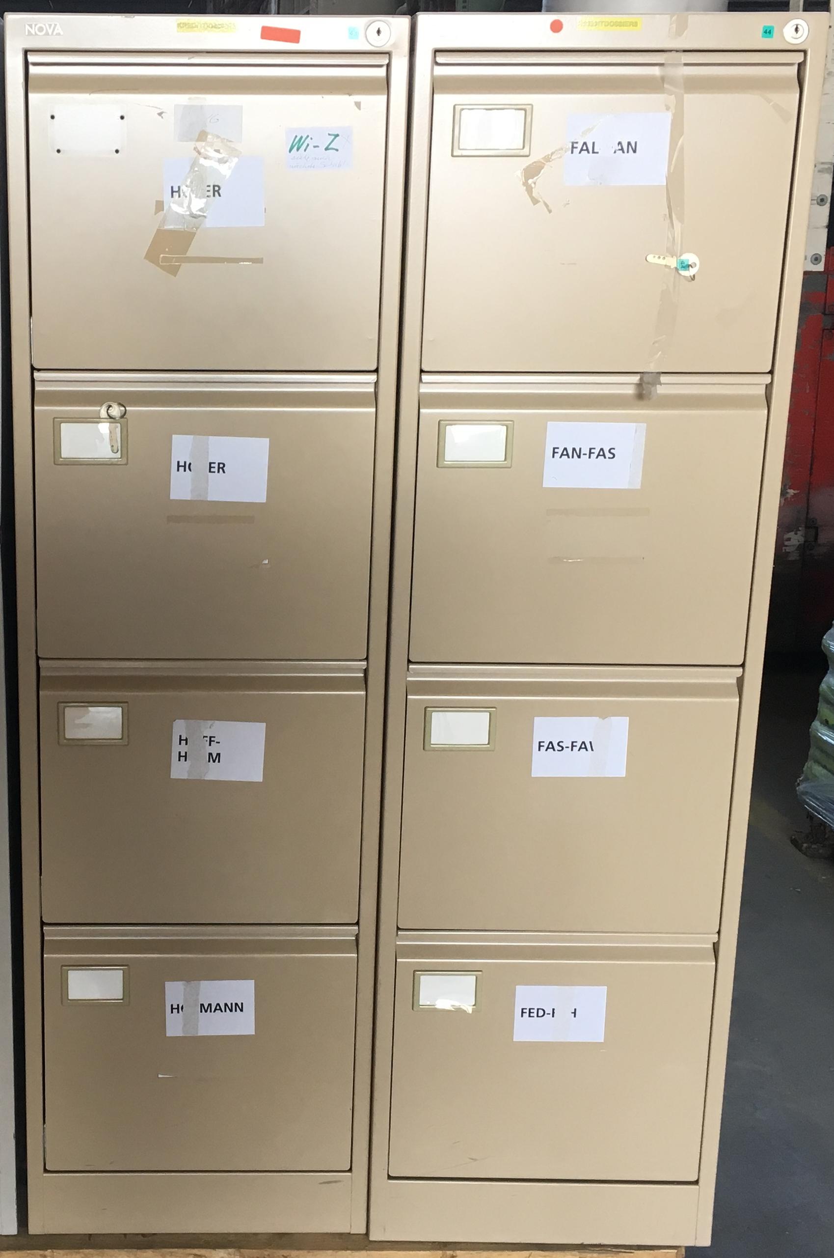 Büro - Aktenschrank hell-beige mit 4 Schubladen - Bruno Röllin AG