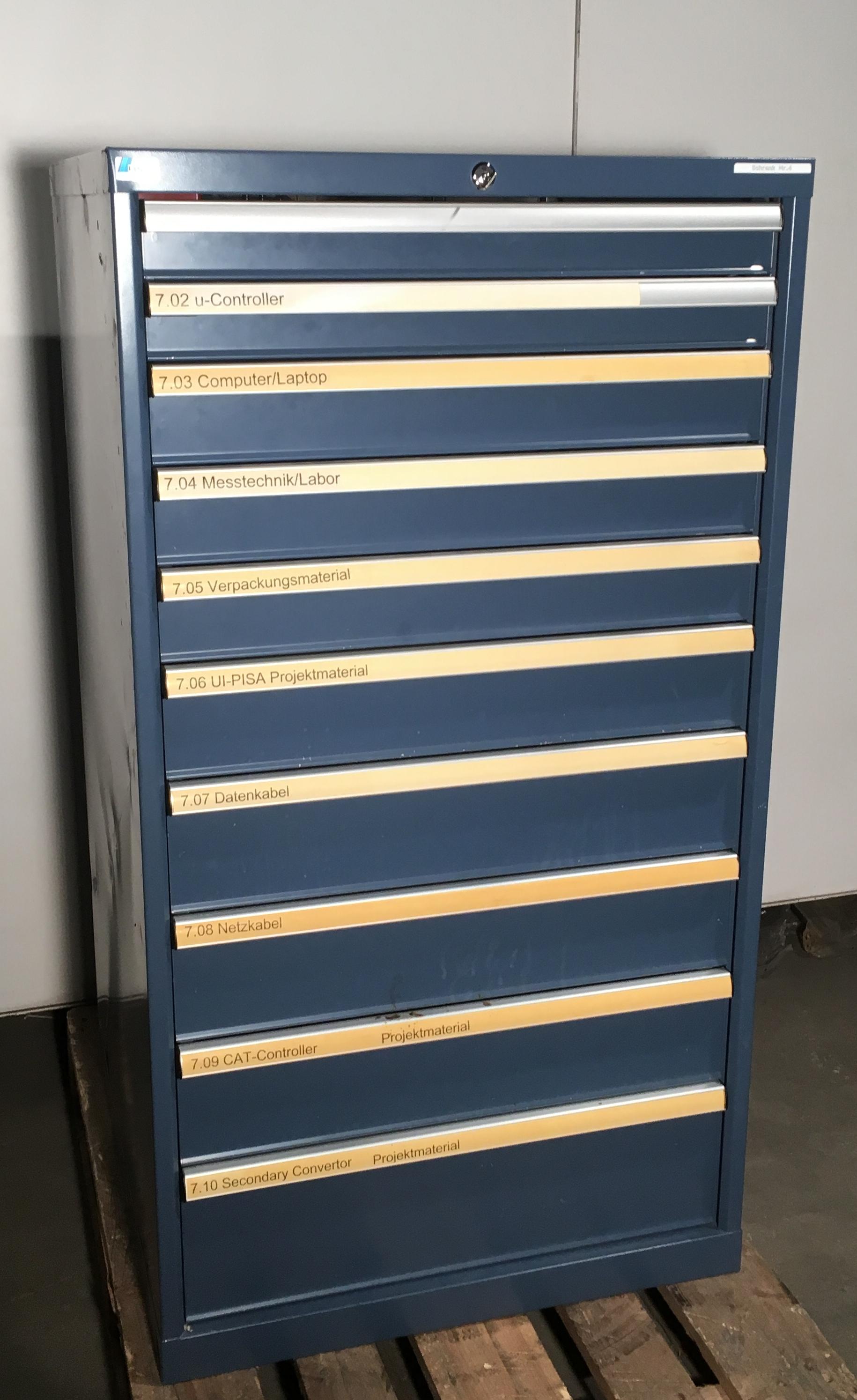 Schubladenschrank LISTA 10 Schubladen - Bruno Röllin AG
