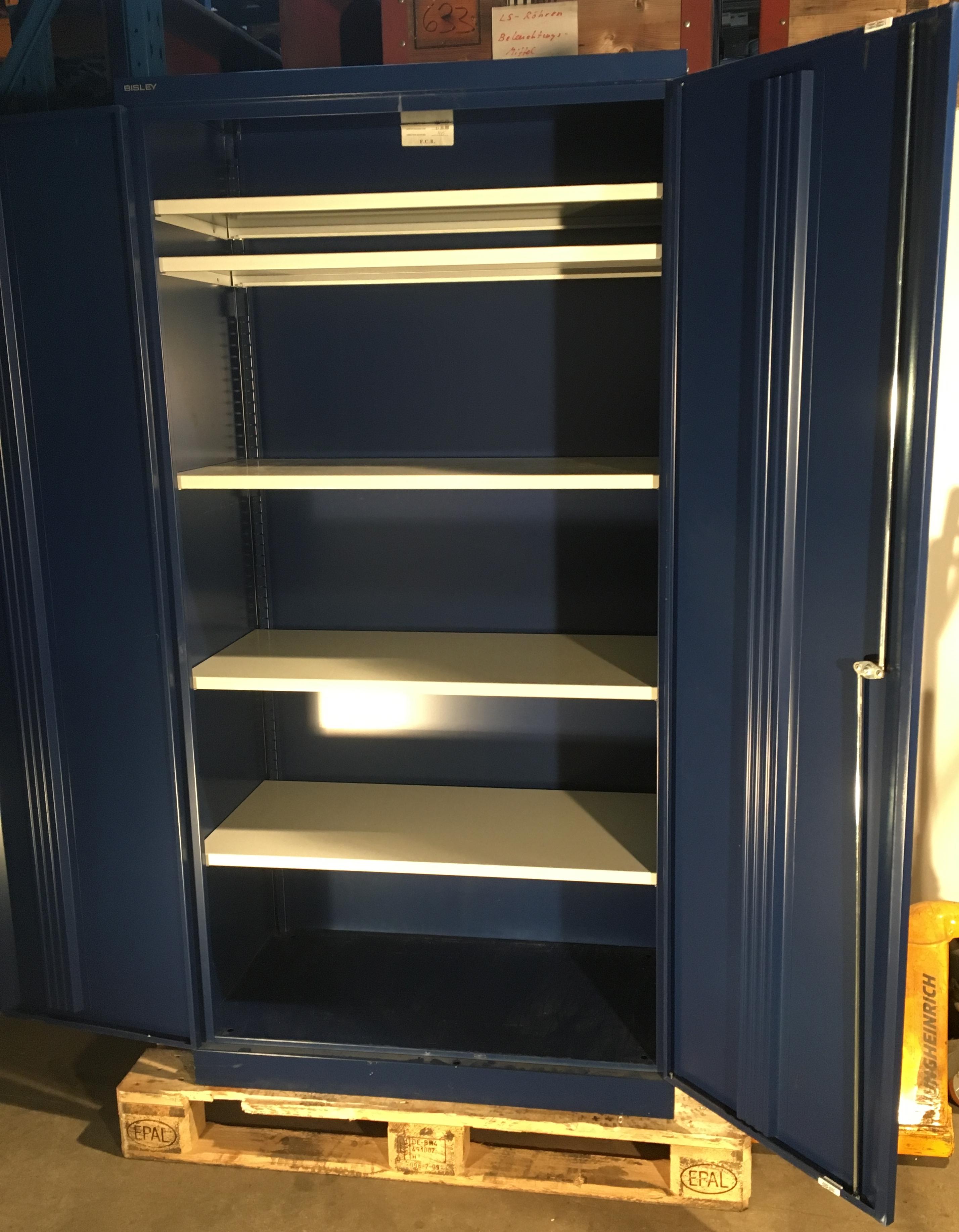 bisley aktenschrank werkzeugschrank fl gelt renschrank aus metall abschlie bar inkl 5. Black Bedroom Furniture Sets. Home Design Ideas